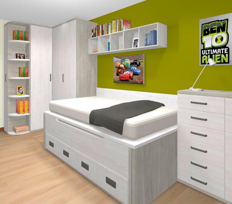 Propuesta dormitorio juvenil